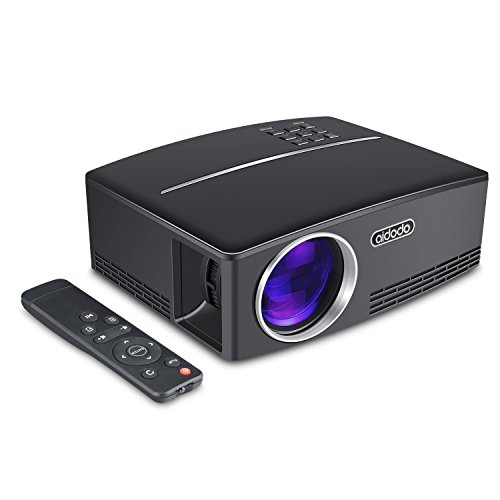 Mini projector led portable video projectors aidodo 1800 for Small projector for laptop