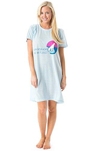 Casual Nights Women s Short Sleeve Printed Scoop Neck Sleep Tee 4a98478b2