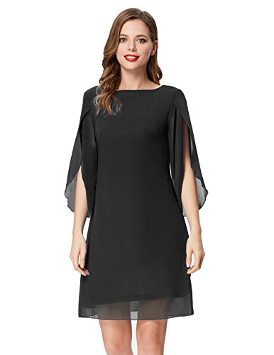 82ffaf6cc6200 GRACE KARIN Women Loose Chiffon Dress 3/4 Sleeve Evening Dress for Cocktail  Party. The beach ...